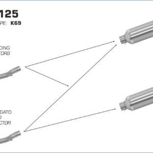 KEEWAY - Silencioso Arrow Thunder Approved de titanio fondo en carbono para Colectores Arrow Arrow -