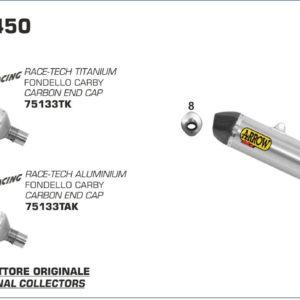 KTM - Silencioso Arrow Off-Road Race-Tech de titanio fondo en carbono -
