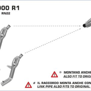 YAMAHA - Sistema completo Arrow COMPETITION FULL TITANIUM fondo en carbono -
