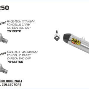 KTM - Sistema completo Arrow Off-Road MX Competition fondo en carbono -