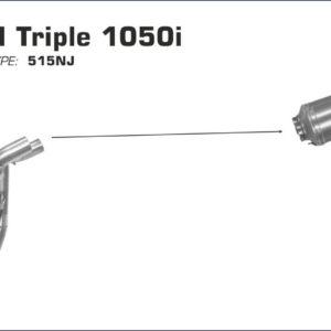 TRIUMPH - Conector Arrow 1 en 2 para Colectores Arrow originales -