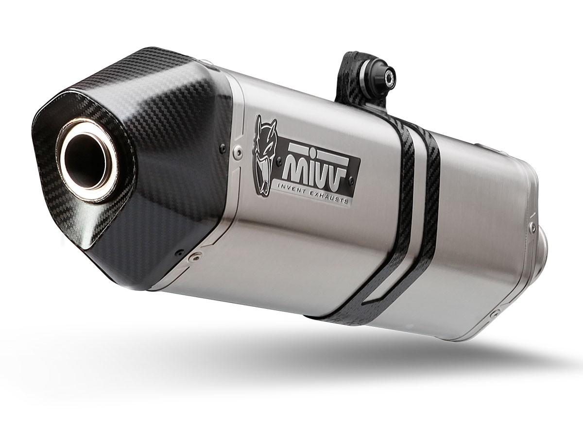 ESCAPES MIVV BMW - Escape MIVV BMW B.025.LRX SPORT SLIP-ON SPEED EDGE INOX coppa carbonio/ST. STEEL carbon cap -