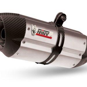 ESCAPES MIVV KTM - Escape MIVV KTM KT.013.L7 SPORT 2 SLIP-ON SUONO INOX coppe carbonio/ST. STEEL carbon caps -
