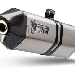 ESCAPES MIVV TRIUMPH - Escape MIVV Triumph T.014.LRX SPORT SLIP-ON SPEED EDGE INOX coppa carbonio/ST. STEEL carbon cap -