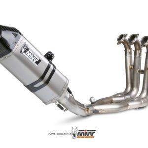 ESCAPES MIVV BMW - Escape MIVV BMW X.BW.0002.SRX POWER STEEL Imp. compl./Full sys. 4x2x1 SPEED EDGE INOX coppa carbonio/