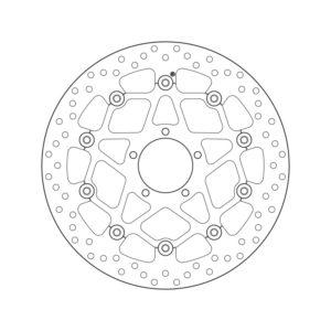 DISCOS BREMBO - Disco de freno flotante Brembo78B408B2 -