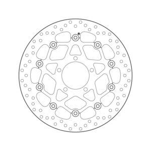 DISCOS BREMBO - Disco de freno flotante Brembo78B408B5 -
