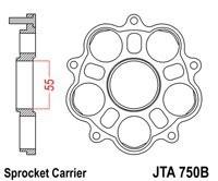 Ducati Monster S4R-S4RS (06-08) - PORTACORONAS JT DUCATI MONOBRAZO -