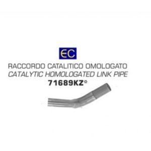ESCAPES UNIVERSALES - CONECTOR CATALITICO HOMOLOGADO INOX BENELLI TRK 502 '17/18 PARA TERMINALES RACE TECH E COLECTORES