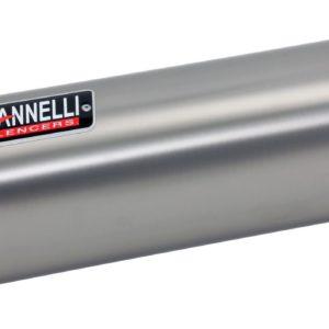 ESCAPES GIANNELLI DUCATI - Slip on IPERSPORT aluminio (versión Black Line) con racor Ducati Hyperstrada-Hypermotard Gian