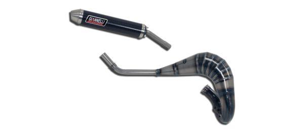 ESCAPES GIANNELLI APRILIA - Silenciador carbono enduro/cross 2T versión alta Aprilia MX 125 Giannelli 54603HF -