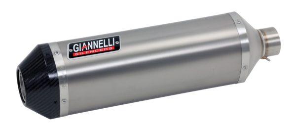 ESCAPES GIANNELLI UNIVERSALES - Slip on IPERSPORT aluminio (versión Black Line) Kawasaki ZX-6R Giannelli 73742B6S -