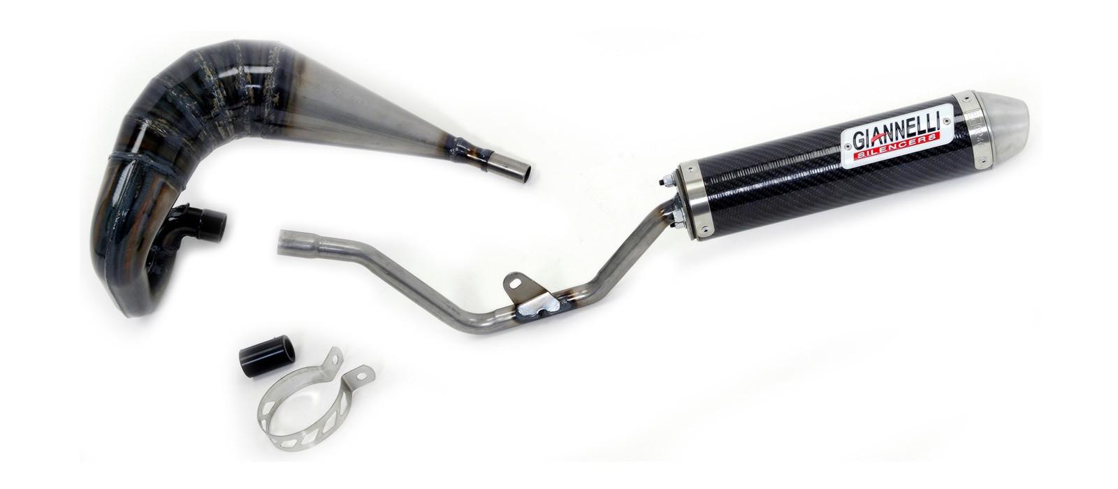 ESCAPES GIANNELLI PEUGEOT - Silenciador carbono enduro/cross 2T Peugeot XP6 SM 50 Giannelli 34681HF -