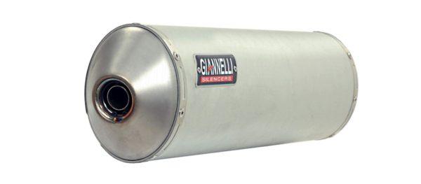 ESCAPES GIANNELLI UNIVERSALES - MAXI OVAL slip on aluminio versión Black Line con terminación carbono Suzuki DL 1000 V-S