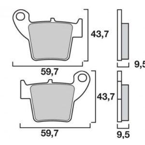 Pastillas de freno sinterizadas de competición Brembo 07HO48SX