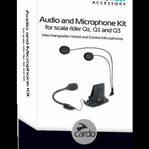 INTERCOMUNICADORES PARA MOTO - CARDO KIT AUDIO/MICRO Q1/Q3/QZ -