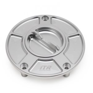 ACCESORIOS VARIOS ITR - TAPÓN ITR de deposito R en aluminio con cierre de rosca Kawasaki en color plata -