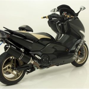 ESCAPES GIANNELLI YAMAHA - Escape Giannelli Maxiscooter Aluminio negro Yamaha T-Max 500 -
