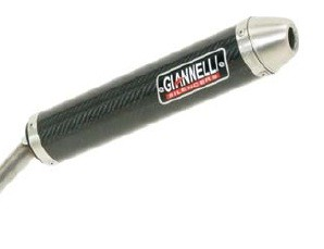 SILENCIOSOS GIANNELLI - Silenciador carbono con terminación aluminio street 2T Derbi GPR 50 NUDE Giannelli 33650HF -