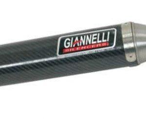 SILENCIOSOS GIANNELLI - Silenciador carbono enduro/cross 2T versión alta Derbi SENDA 50 R Giannelli 34631HF -