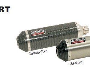 SILENCIOSOS GIANNELLI - Slip on IPERSPORT titanio con terminación carbono Honda CBR 600 RR Giannelli 73720T6SY -