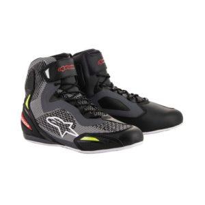 botas-alpinestars-faster-3-rideknit-negras-gris-rojo-amarillo-fluor