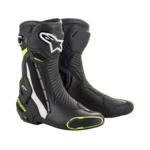 botas-alpinestars-smx-plus-v2-negras-blancas-amarillas-fluor