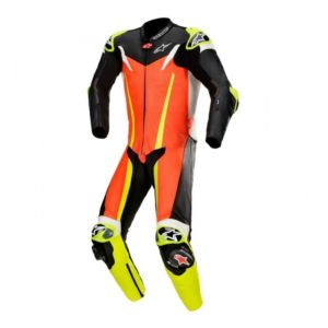 mono-alpinestars-gp-tech-v3-1pc-leather-suit-tech-air-compatible-rojo-fluor-negro-amarillo-fluor