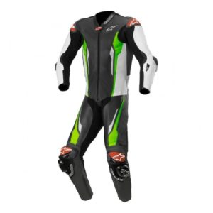 mono-alpinestars-racing-absolute-leather-suit-tech-air-compatible-negro-blanco-verde-fluor