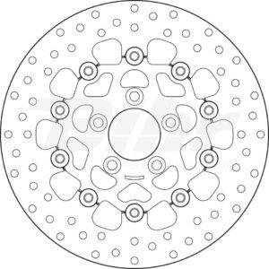 Disco de freno flotante Brembo 78B40828