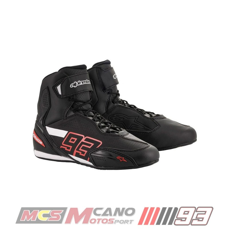 Botas Alpinestars Faster-3 Austin Riding Shoes Negra Roja