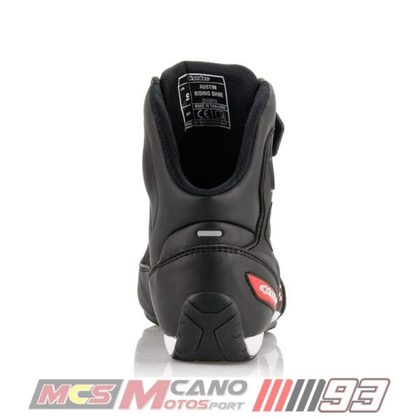 Botas Alpinestars Faster-3 Austin Riding Shoes Negra Roja-3