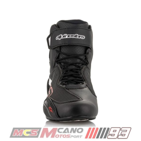 Botas Alpinestars Faster-3 Austin Riding Shoes Negra Roja-2