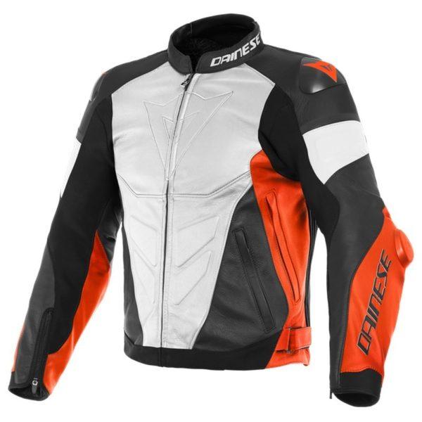 chaqueta-dainese-super-race-blanca-roja-fluor-negra