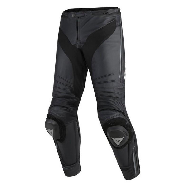 Dainese - Pantalón de cuero Dainese Misano Negro Antracita -