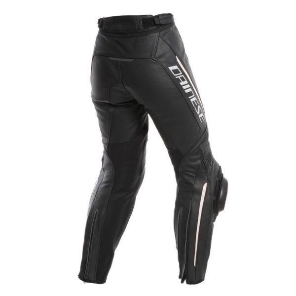 Dainese - Pantalón de cuero Dainese Delta 3 Mujer Negro Blanco -