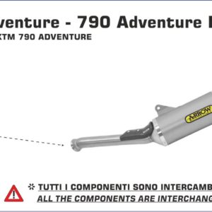 "Silencioso Race-Tech Arrow de aluminio ""Dark"" fondo en carbono para KTM 790 Adventure 2019"