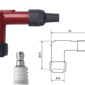 Pipa de bujía NGK LB05E-R