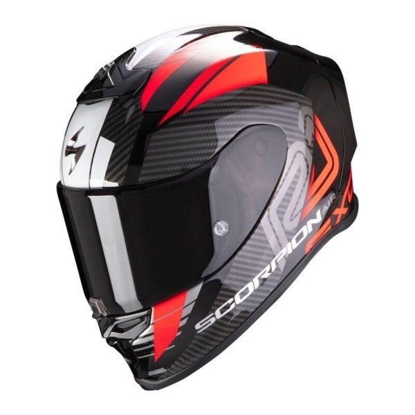 casco-scorpion-exo-r1-air-halley-negro-metal-rojo
