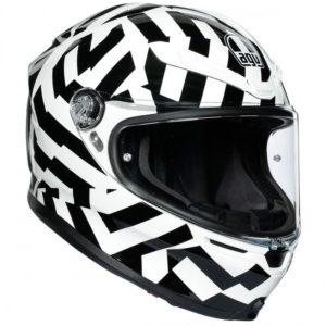 casco-agv-k6-secret-black-white