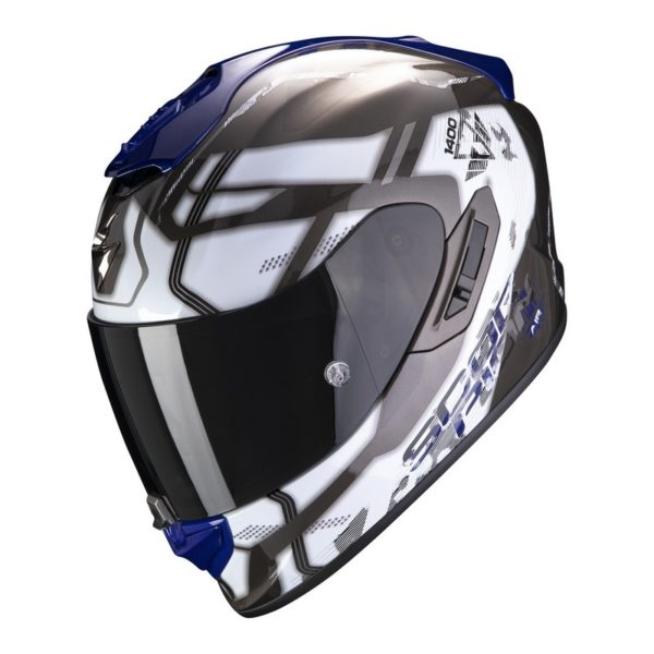 Casco Scorpion EXO-1400 AIR SPATIUM White-Blue