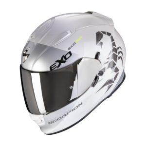 Casco Scorpion EXO 510 AIR PIQUE Pearl White Silver