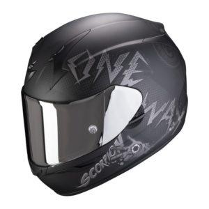 Casco Scorpion EXO 390 ONEWAY Matt Black-Silver