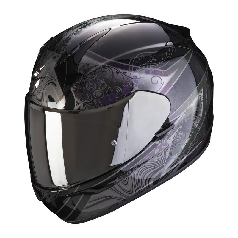 casco-scorpion-exo-390-clara-black-silver
