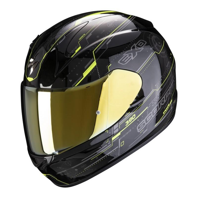 casco-scorpion-exo-390-beat-black-neon-yellow