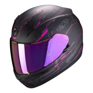 casco-scorpion-exo-390-beat-black-pink