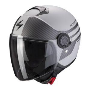 casco-scorpion-exo-city-moda-matt-silver-black