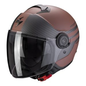 casco-scorpion-exo-city-moda-brown-matt-black