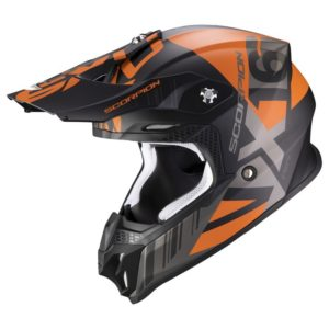Casco Scorpion VX-16 AIR MACH Matt Black-Orange