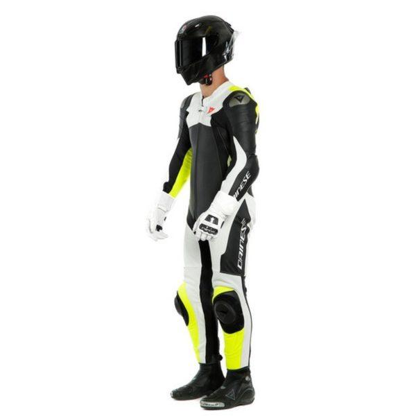mono-dainese-assen-2-1pc-perforado-negro-blanco-amarillo-fluor